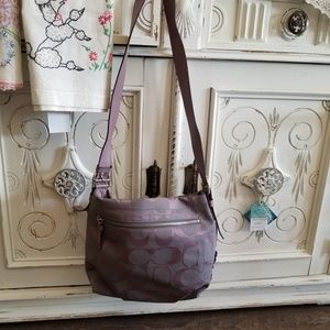 Coach bag lilac & heather signature ew duffle EUC